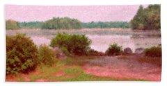Borderland Pond With Monet's Palette Bath Towel