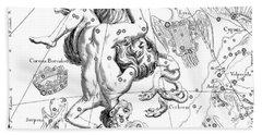 Boreal Constellations Of Hercules And Cerberus Bath Towel