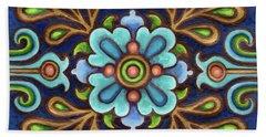 Botanical Mandala 9 Bath Towel