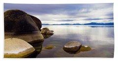 Boulders At Sand Harbor Bath Towel