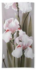 Bouquet Of White Irises Hand Towel