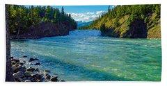 Bow River In Banff Bath Towel
