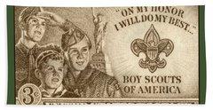 Boy Scouts 1950 Bath Towel