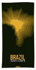 Brazil Radiant Map 1 Hand Towel