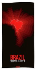 Brazil Radiant Map 3 Hand Towel