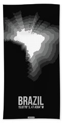 Brazil Radiant Map 4 Hand Towel