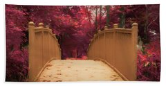 Bridge In The Woods Hand Towel