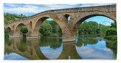 Bridge The Queen On The Way To Santiago Hand Towel