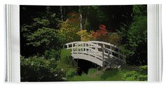 Bridge To The Azalea Gardens Hand Towel