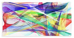 Bright Abstract 2 Hand Towel