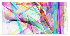 Bright Abstract Hand Towel