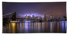 Bright Lights Of New York II Hand Towel