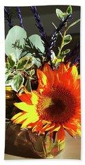 Bright Sunflower Autumn Gift Hand Towel