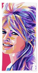 Brigitte Bardot Pop Art Bath Towel