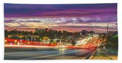 Broadway Sunset, Tucson, Az Bath Towel