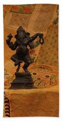 Bronze Ganesha Dancing Bath Towel
