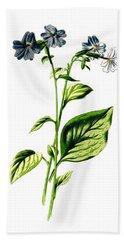 Browallia Flower Bath Towel
