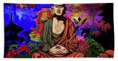Buddhist Monk. Bath Towel