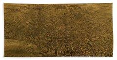 Buffalo New York City Street Map 1880 Hand Towel