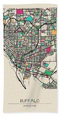 Buffalo, United States City Map Hand Towel