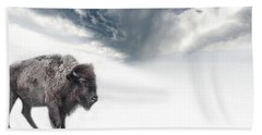 Buffalo Winter Hand Towel
