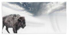 Buffalo Winter Hand Towel