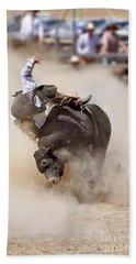 Bull Riding Bath Towel