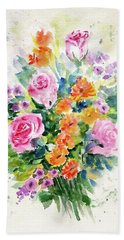 Bunch Of Flowers Hand Towel