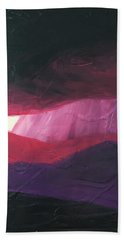 Burgundy Storm On The Horizon Bath Towel