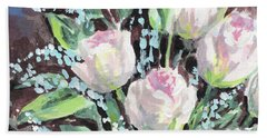 Burst Of Roses Flowers Bouquet Floral Impressionism  Hand Towel