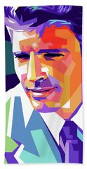 Burt Lancaster Pop Art Bath Towel