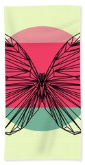 Butterfly And Sunset Bath Towel