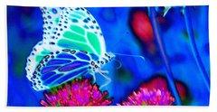 Butterfly Blue Hand Towel