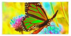 Butterfly Green  Hand Towel