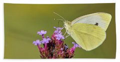 Cabbage White Butterfly Hand Towel