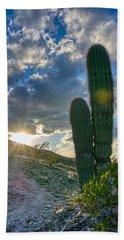 Cactus Portrait  Bath Towel