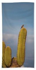 Cactus Wren Bath Towel