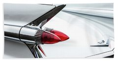 Cadillac Tail Fins Hand Towel