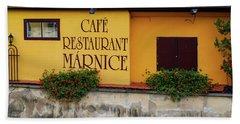 Cafe Restaurant Marnice Hand Towel