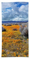 California Poppy Patch Hand Towel