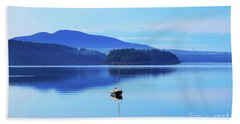 Bath Towel featuring the photograph Calm Morning Cove by Patti Whitten