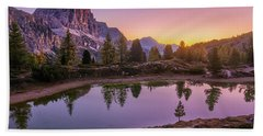 Calm Morning On Lago Di Limides Hand Towel