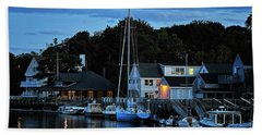 Camden Maine Twightlight Hand Towel