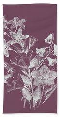 Campanulas Purple Flower Bath Towel
