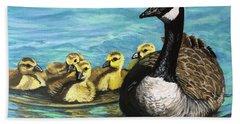 Canadian Goise And Goslings Bath Towel