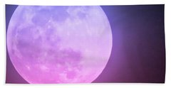 Cancer Super Wolf Blood Moon Near Eclipse Bath Towel