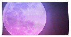 Cancer Super Wolf Blood Moon Near Eclipse Hand Towel