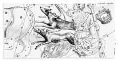 Canes Venatici, The Boreal Constellation Of The Hunting Dogs Bath Towel
