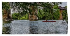 Canoeing Lady Bird Lake Hand Towel