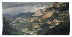 Bath Towel featuring the photograph Canyon Anisclo by Stephen Taylor